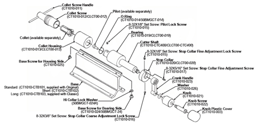 Forster Products Original and Classic Case Trimmer drawing